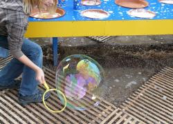 soap bubble, child, fun, toys, large, huge, beautiful