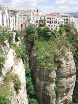 spain, ronda, andalusia, gorge, city