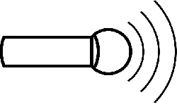 speaker, electronic, large, outline, symbol, handheld