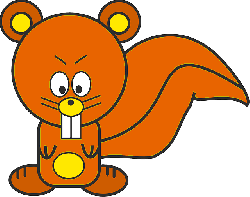 squirrel, animal, angry, orange, cartoon, drawing