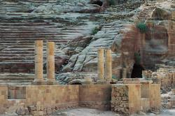 stadium, petra, the red, the colorful, siq, jordan