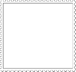 stamp, fancy, frame, white, blank, trim
