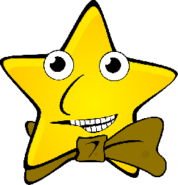 star, face, party, funny, bow tie, tie