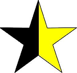 star, half, color, yellow, rating