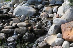 stone, brook, water, nature, rocks