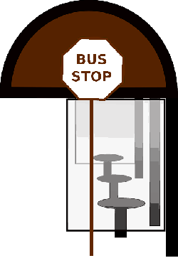 stop, flat, icon, bus, window, seats, seat