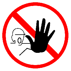 stop, hand, yield, forbidden, halt