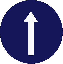 straight, arrow, sign, top, road sign, street sign