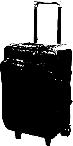 suitcase, airport, bag, travel, vacation, rolling, roll