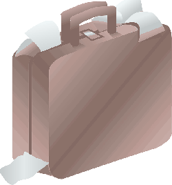 suitcase, baggage, bag, case, luggage, paper