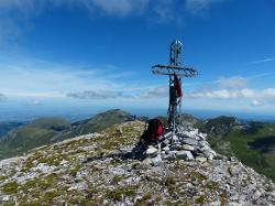 summit cross, cima della saline, mountain, summit