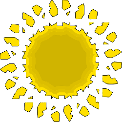 sun, bright, shining, simplification, symmetric, tile