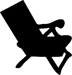 sunlounger, chair, silhouette, summer, sitting