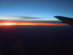 sunset, evening sky, afterglow, travel, aircraft