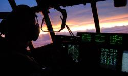 sunset, sky, clouds, aircraft, cockpit, cockpit view