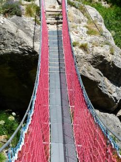 suspension bridge, bridge, crossing, river, rope bridge