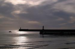 sussex, seascape, landscape, harbour, silhouette, moody