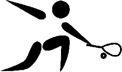 symbol, silhouette, sport, cartoon, squash, sports