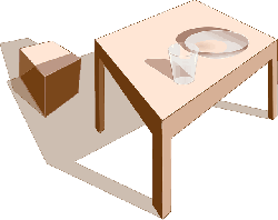 table, dining table, furniture, wood, lunch, 3d