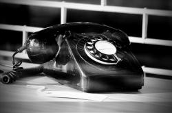 telephone, phone, call, old, black, white, number