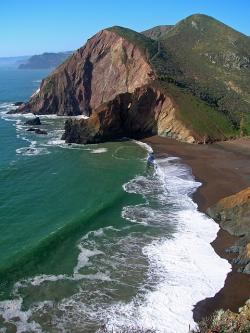 tennessee cove, california, sea, ocean, water, waves