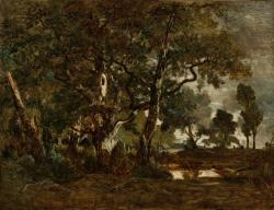 theodore rousseau, painting, oil on canvas, artistic