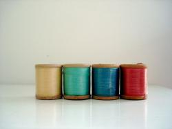 thread, spools, sewing, vintage, colorful, crafts