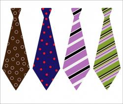 tie, ties, patterned, design, colorful, clipart