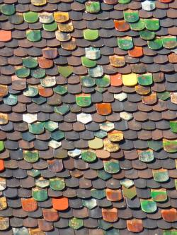 tile, roof, roofing, colorful, metzger tower, tower