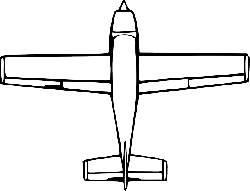 top, view, outline, drawing, cartoon, airplane, down