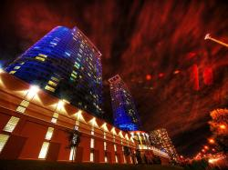toronto, canada, hdr, wall, building, city, town, night