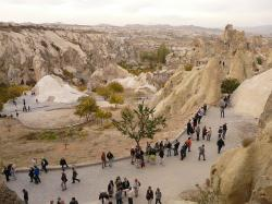 tourists, göreme, human, open air museum