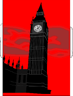 tower, big ben, building, london, silhouette