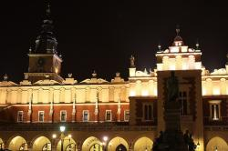 town, city, krakow, old, lights, cloth, cracow, square