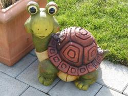 turtle, fig, sound figure, garden, ceramic, pottery