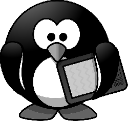tux, animal, bird, book, ebook, ebook reader, ereader