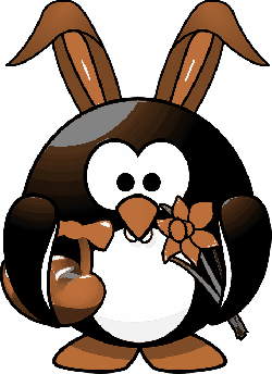 tux, animal, bird, bunny, costume, daffodil, easter