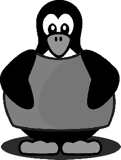 tux, penguin, linux, blue, cartoon, angel, bird