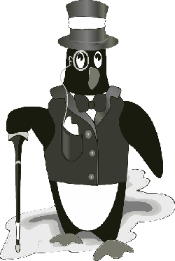 tuxedo, gentleman, bird, penguin, tux, animal, cartoon