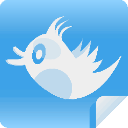 tweet, twitter, sticker, bird, peep, social, blue