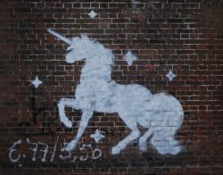 unicorn, drawing, graffiti, mural, art, horse, animal