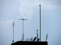 urban, city, construction, antennas, visual pollution