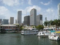 usa, miami, skyline, port, sea, holiday, outlook