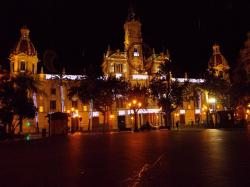 valencia, spain, night, evening, lights, lighting