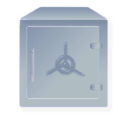 vault, strongbox, safe, security container, metal