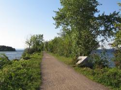 vermont, road, path, mallet's bay, trees, plants, grass