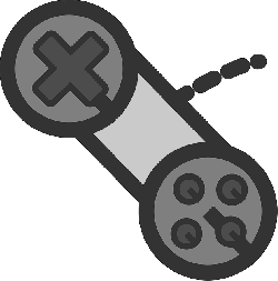 video, controller, flat, game, theme, icon, control