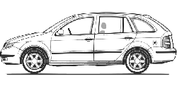 view, outline, drawing, sketch, car, cartoon, from