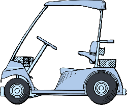 view, small, outline, drawing, car, golf, cartoon