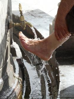 washing, ritual, foot care, washing feet, islam, water